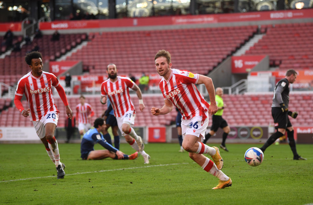 Rhys Norrington-Davies in action for Stoke City.