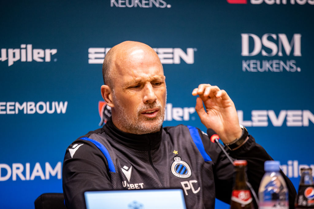 SOCCER JPL CHAMPIONS PLAY-OFF CLUB BRUGGE PRESS CONFERENCE