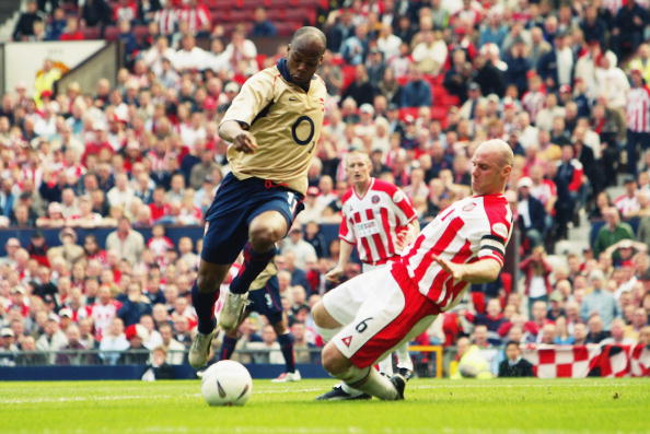 Robert Page in action against Arsenal in 2003.